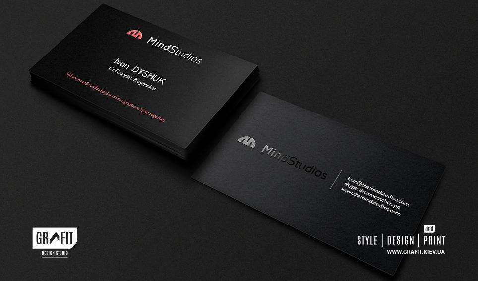 Разработка дизайна визиток для IT-студии